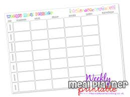 Weekly Menu Weekly Meal Planner | Free Printable