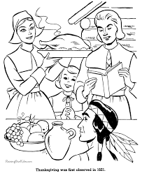 Small Picture First Thanksgiving Dinner Coloring Pictures 021