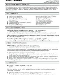 Laboratory Technician Resume Template Sample For Medical Lab ...