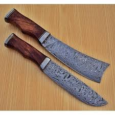 Damascus Steel Knife Set  2 Piece  Black Edition U2013 Kitchen WarriorDamascus Steel Kitchen Knives