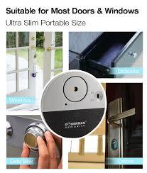 Doberman Security Ultra Slim Design Security Alarm Se 0106 100db Electronic Wireless Vibration Sensor Home Security Door Window Alarm