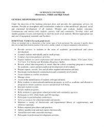 Sample Resume For School Counselor Sample Resume For Elementary School Counselor Position Lesson Plan
