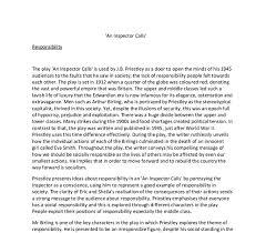 an inspector calls essay social responsibility an inspector calls social responsibility essay example for