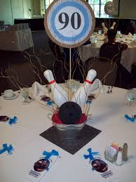 Bowling Banquet Decorations Bowling centerpiece 60th golf birthday party Pinterest 2