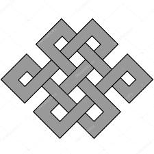 Jednoduchý Design Prvek Keltský Uzel Uzel štěstí Stock Vektor