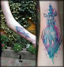 Tetování Srna Ve Vodovce Watercolour Doe Tattoo Tetování Tattoo