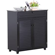 black storage cabinet. Contemporary Black Yaheetech 3 Shelves ShoeStorage Cabinet With 1 Drawer 2 Doors Black Inside Storage C