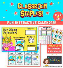 Calendar And Weather Chart Classroom Worksheets Teaching