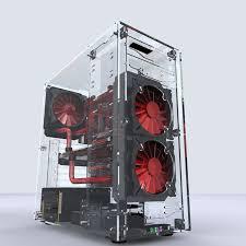 Newest L500 Desktops All <b>Transparent Acrylic</b> Vertical Micro/ATX ...