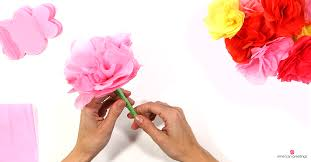 Paper Flower Tissue Paper Diy Tissue Paper Flower Pen American Greetings