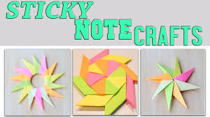 easy paper crafts with sticky notes 3 minute crafts compilation ninja star spinning star