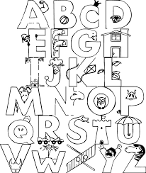 Small Picture Alphabet Coloring Pages GetColoringPagescom
