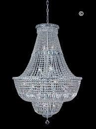 empress crystal basket chandelier chrome 28 light