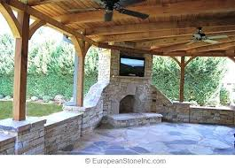 outdoor stone fireplace. Backyard Covered Patio Outdoor Designs Flagstone Stone Fireplace Cover Costco