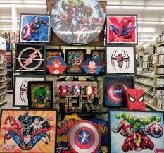 Marvel fans, show off your love for your favorite superheroes with simple diys! Super Hero Table At Hobby Lobby Houston Super Hero Bedroom Decor Superhero Room Hobby Lobby Decor