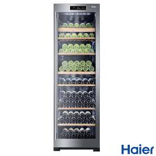 haier ws151gdbi 151 bottle dual zone wine cooler in stainless steel