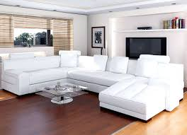 living room decor with sectional. White Sectional Living Room Ideas Minimalist Decorating With Sofa Bamboo Shade And Wooden Floor Leather Decor