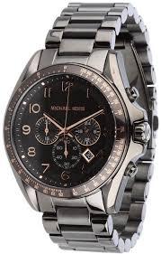 michael kors bradshaw gunmetal chronograph mens watch mk8255 michael kors mens mk8255 mk8255