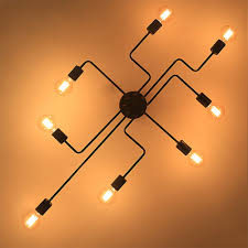 Us 300 50 Offschmiedeeisen 468 Köpfe Kronleuchter Decke Mehrere Stange Decke Dome Lampe Kreative Persönlichkeit Retro Nostalgie Decke Licht In
