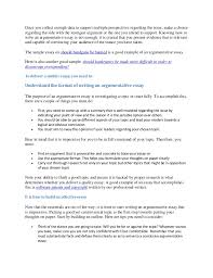 guidelines to writing an argumentative essay 2