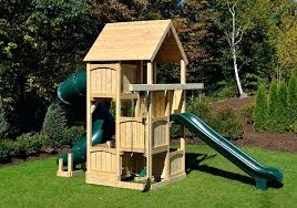 swing set for small yards triumph play systems bailey wooden with tire and super large deck swing set for small yards wooden yard sets australia