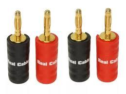<b>Разъем Real Cable Banana</b> B6932 2C 4PCS - ElfaBrest
