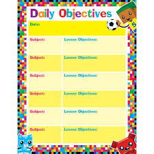 Learning Chart Daily Objectives Blockstars Learning Chart
