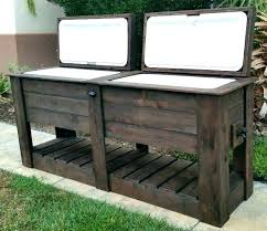 outdoor bar table with drinks cooler wood patio coolers rustic custom pixels great pallet design idea