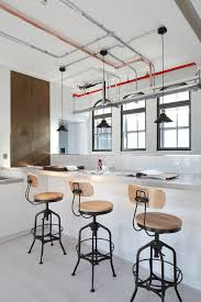 industrial lighting design. Industrial Design Home Kitchen With Lighting Copper Pipe Breakfast Bar D