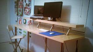 Fine Adjustable Height Desk Ikea Build A Diy Wide For Design Inspiration