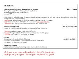 40expected Graduation Date On Resume Proposal Agenda Impressive Resume Expected Graduation