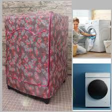 LOẠI XỊN] Áo trùm máy giặt vỏ bọc loại cửa ngang 7kg 8kg 9kg - vải bao chùm  chống bụi (mẫu chim hạc hồng) chính hãng