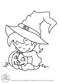 Coloriage Halloween De Sorciere Goshowmeenergy Pour Dessin
