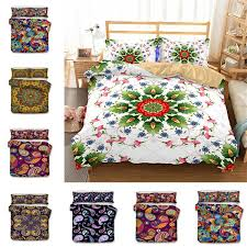 bohemian bedding set polyester cotton soft bed linen duvet cover pillowcases bed sheet sets home textile coverlets t1i888 modern duvet covers queen size