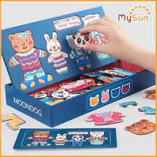 Đồ chơi nam châm ghép xếp hình trẻ em trí tuệ thông minh cho bé 3 5 tuổi