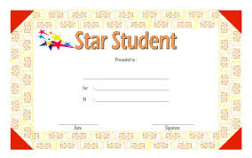 Star Student Certificates Star Student Certificate Template 3 Paddle At The Point