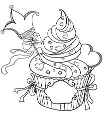 Coloring pages cupcake for kids. Cupcake Coloring Pages Coloring Rocks