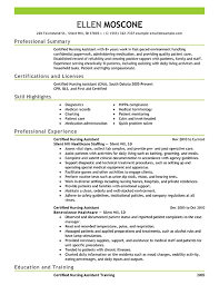 Best Certified Nursing Assistant Resume Example Livecareer Within