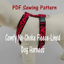 Dog Harness Pattern Beauteous Dog Harness Nochoke And Fleecelined PDF Sewing Pattern Etsy
