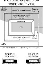 deck o drain pool deck drains
