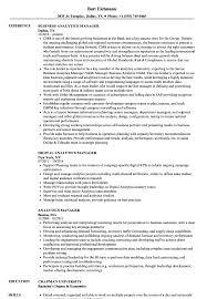 Analytics Manager Resume Samples Velvet Jobs