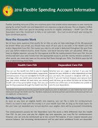 2016 Flexible Spending Account Information