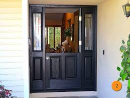 black front door hardware. 36x80 Plastpro Drm60 Fiberglass Dutch Exterior Door With Two Sidelights Installed In Black Front Handles Design Hardware