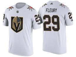 2018 New Golden Knights T-shirt Fleury White Season Vegas 29 Marc-andre
