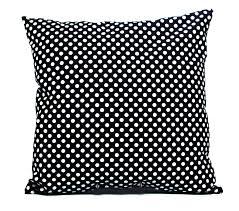 black polka dot pillow