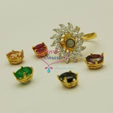 fr1133 ad grand size 18mm finger rings magnetic stone changing 5 colors fashion jewelry