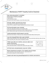 Mazda Firtft Qc Checklist Manualzz Com