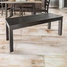 walker edison furniture company homestead black solid wood dining bench