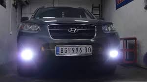 2013 Santa Fe Fog Light Replacement Hyundai Santa Fe Coming Home Fog Light By Ledmasters Youtube