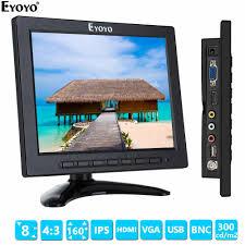 """<b>Eyoyo 8</b>"""" <b>Inch</b> TFT LED Video Audio VGA BNC HD Monitor 4:3 ..."""